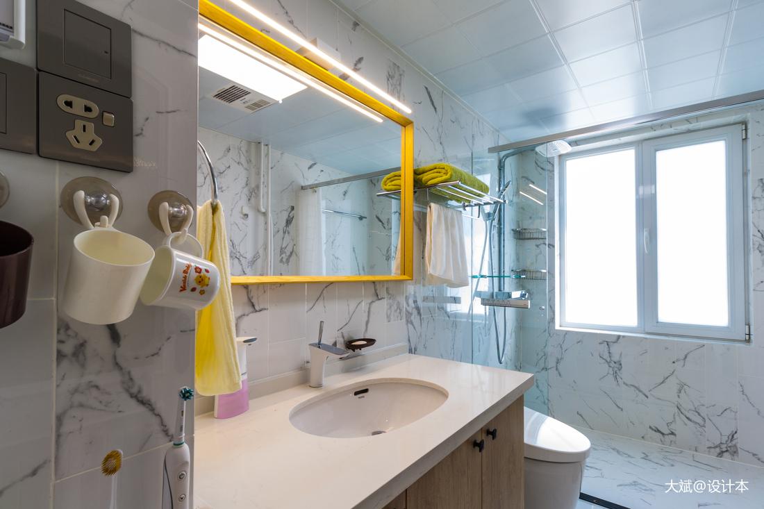 典雅101平美式三居卫生间效果图片大全