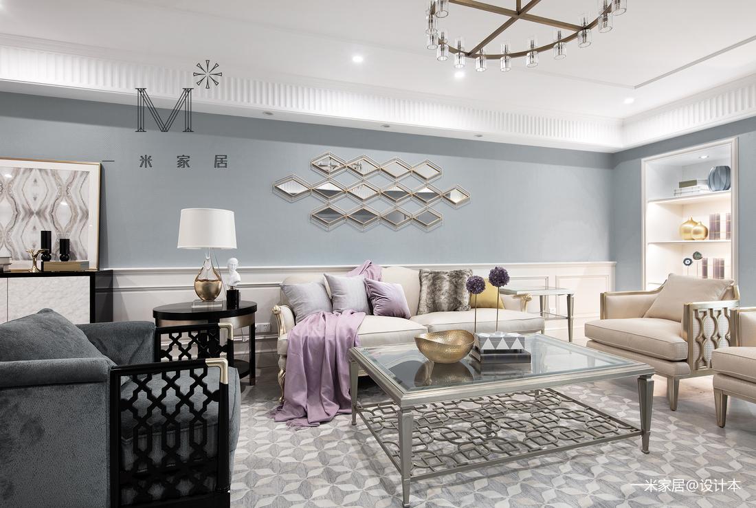 优雅66平美式二居装修装饰图