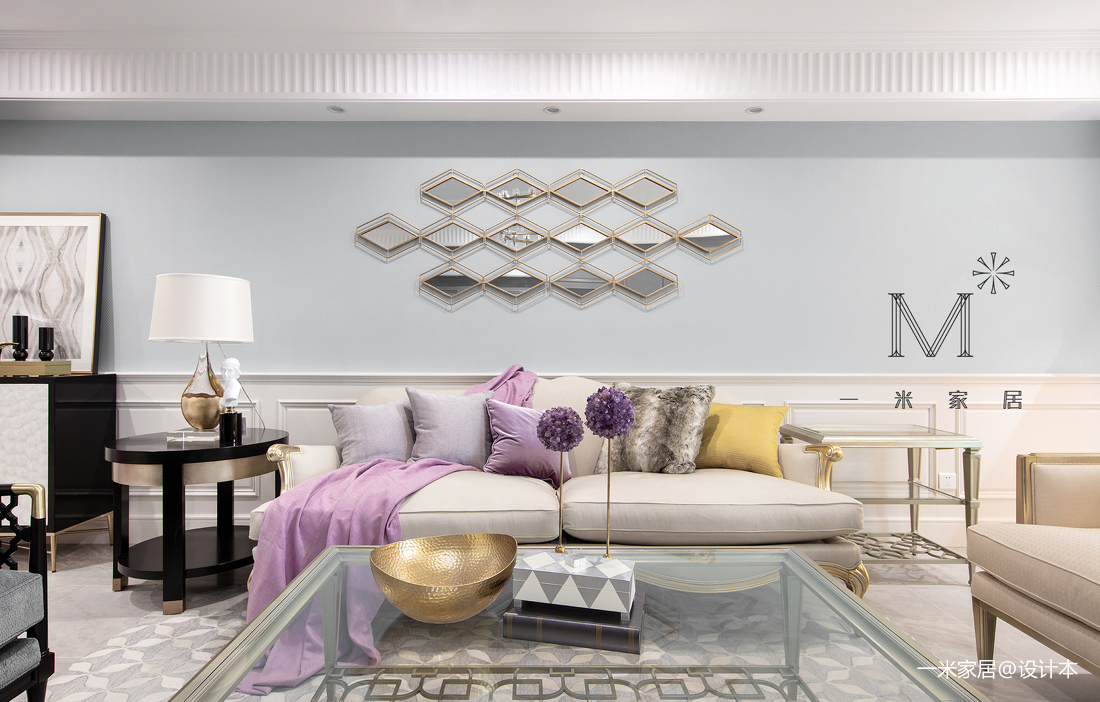 典雅54平美式二居装修图片