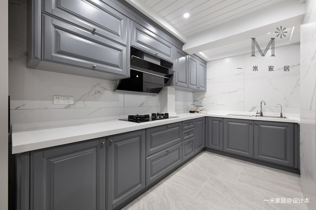 温馨87平美式二居厨房装修装饰图