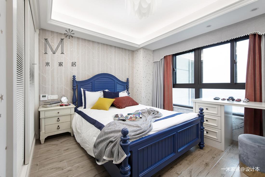 明亮57平美式二居卧室装修效果图