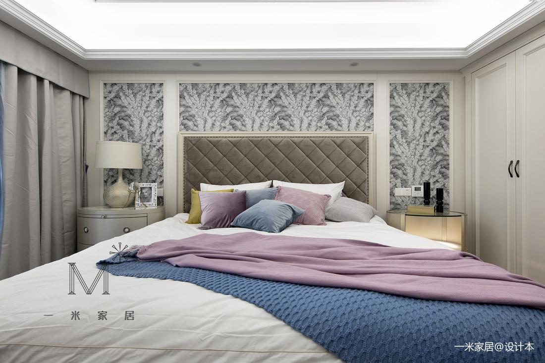 质朴70平美式二居卧室布置图