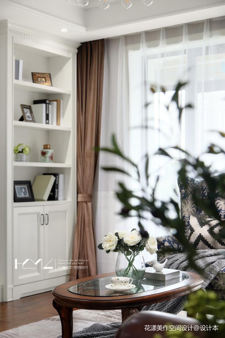 浪漫128平美式三居客厅装修效果图