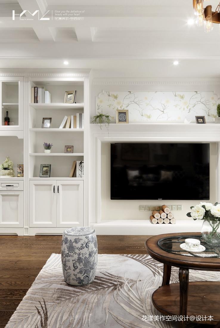 浪漫87平美式三居客厅装潢图
