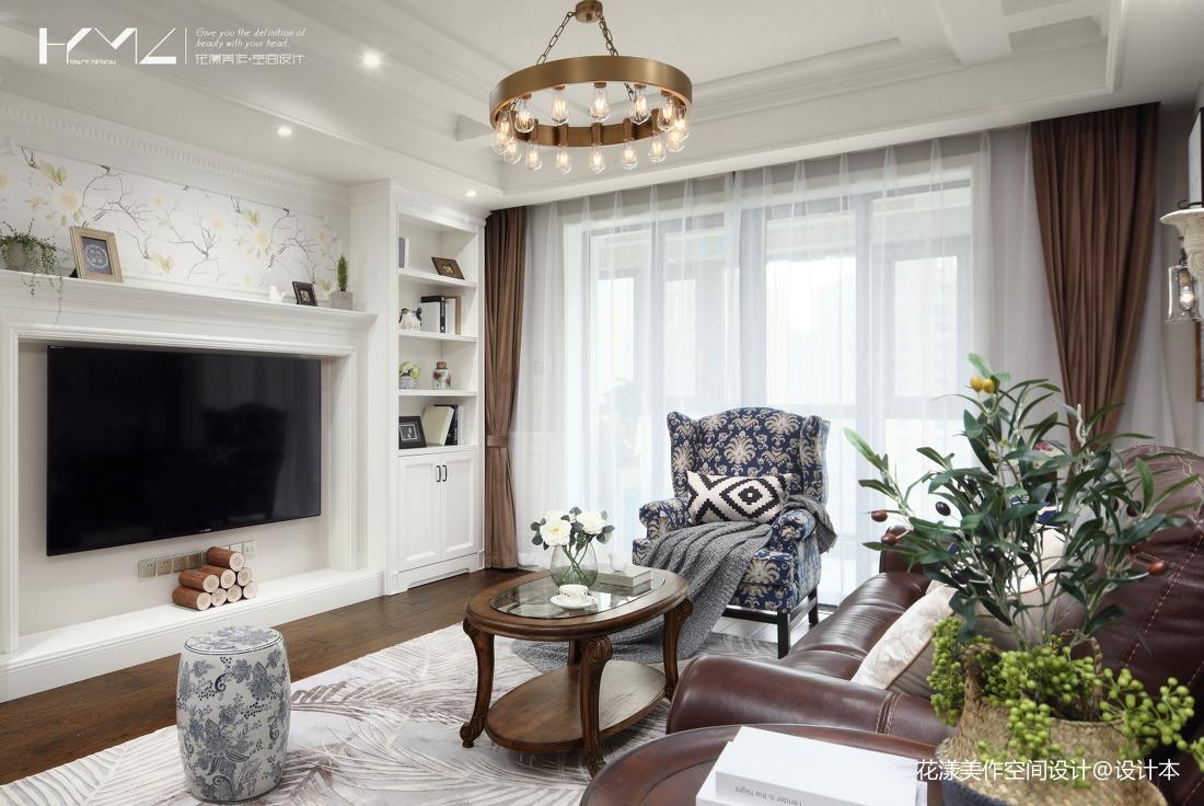 大气126平美式三居客厅布置图