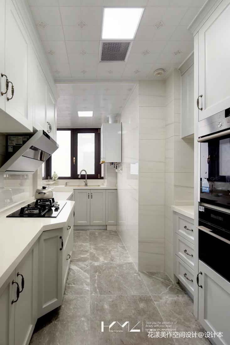 简洁128平美式三居厨房美图