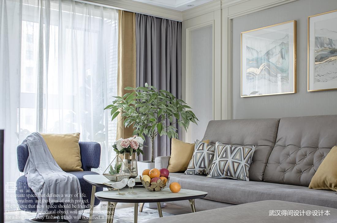 质朴113平美式三居客厅装修图