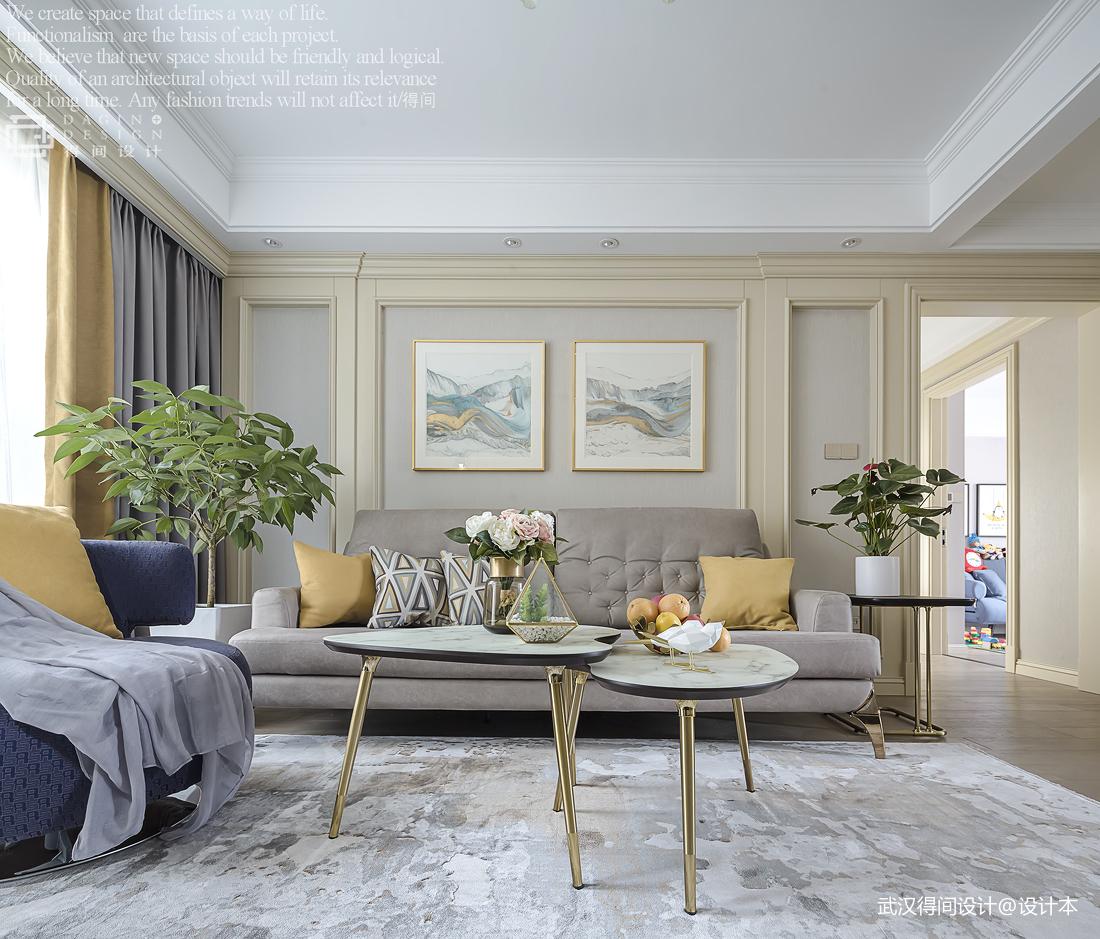 精美109平美式三居客厅美图