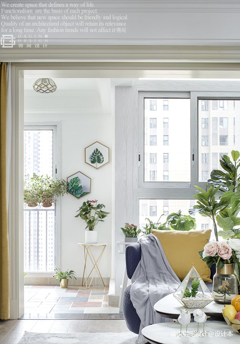 精致83平美式三居阳台装修案例
