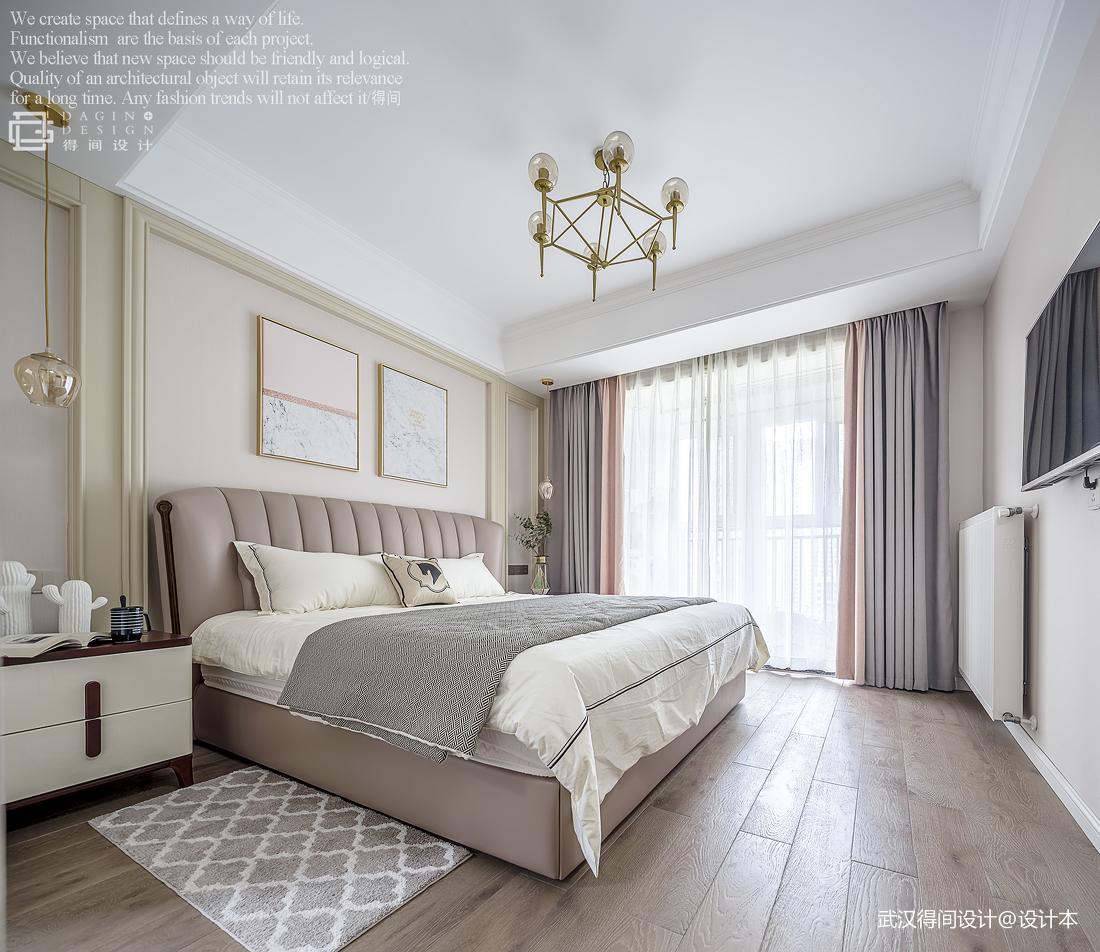 精致113平美式三居卧室实景图