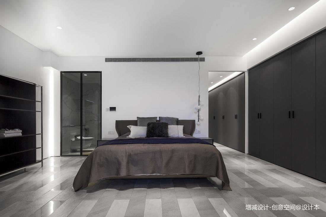 悠雅609平现代别墅卧室装修装饰图