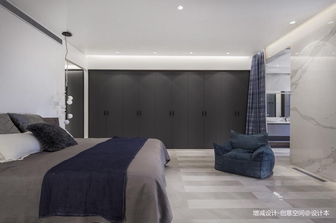 轻奢585平现代别墅卧室装潢图