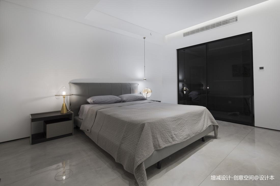 悠雅404平现代别墅卧室装潢图