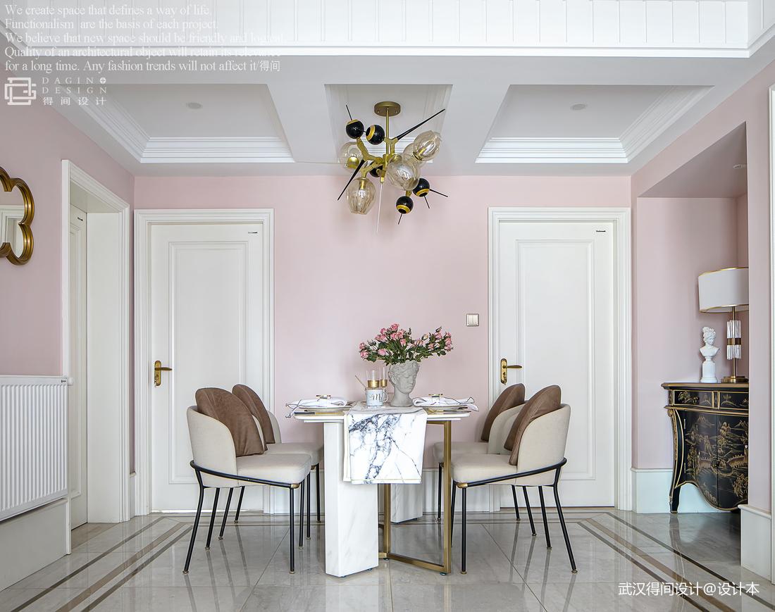 温馨123平法式三居餐厅装饰图片