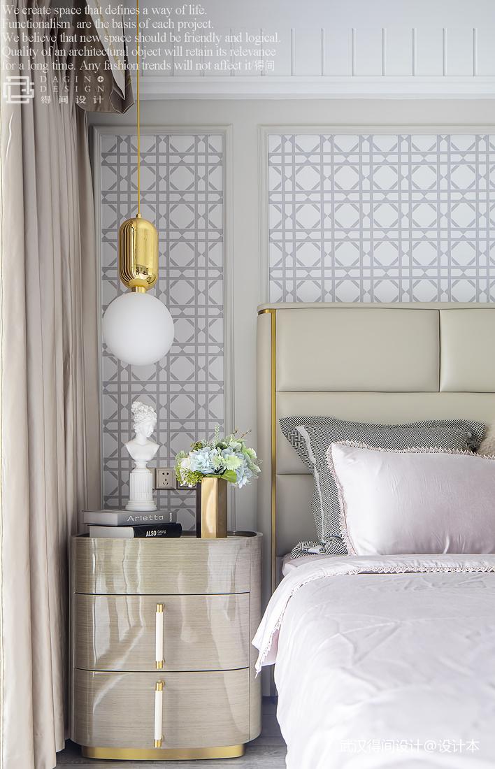 大气129平法式三居卧室装修图片
