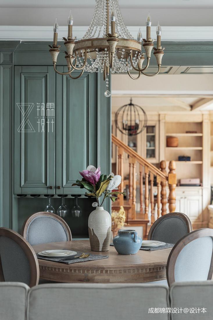 华丽80平法式二居餐厅实景图片