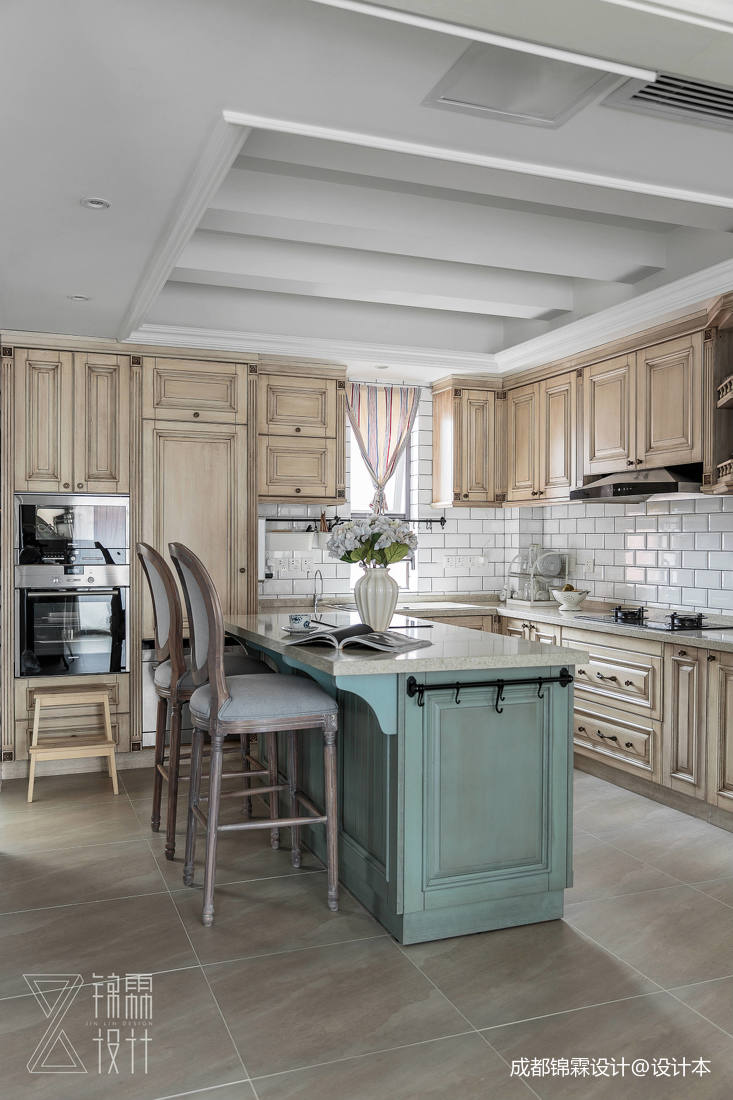悠雅79平法式二居厨房设计美图
