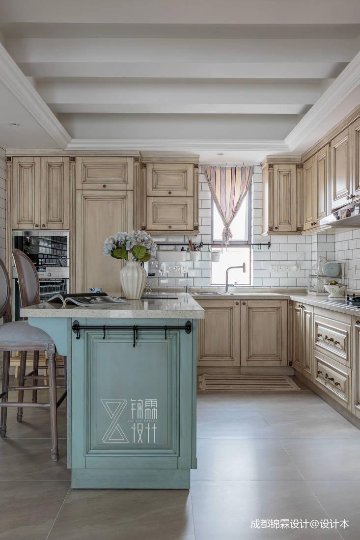 优美78平法式二居厨房装饰图片
