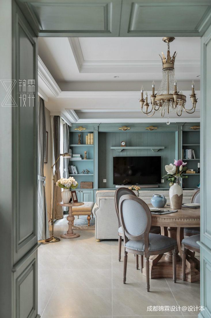 典雅86平法式二居客厅实拍图