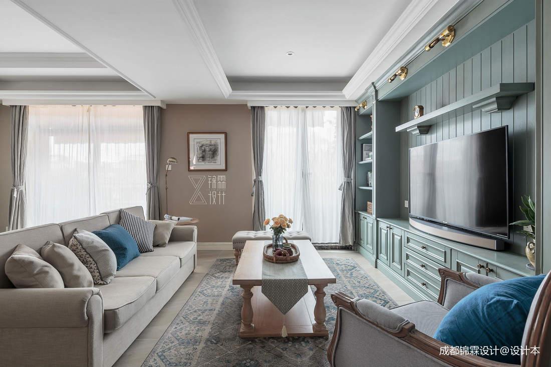 温馨63平法式二居客厅实景图片