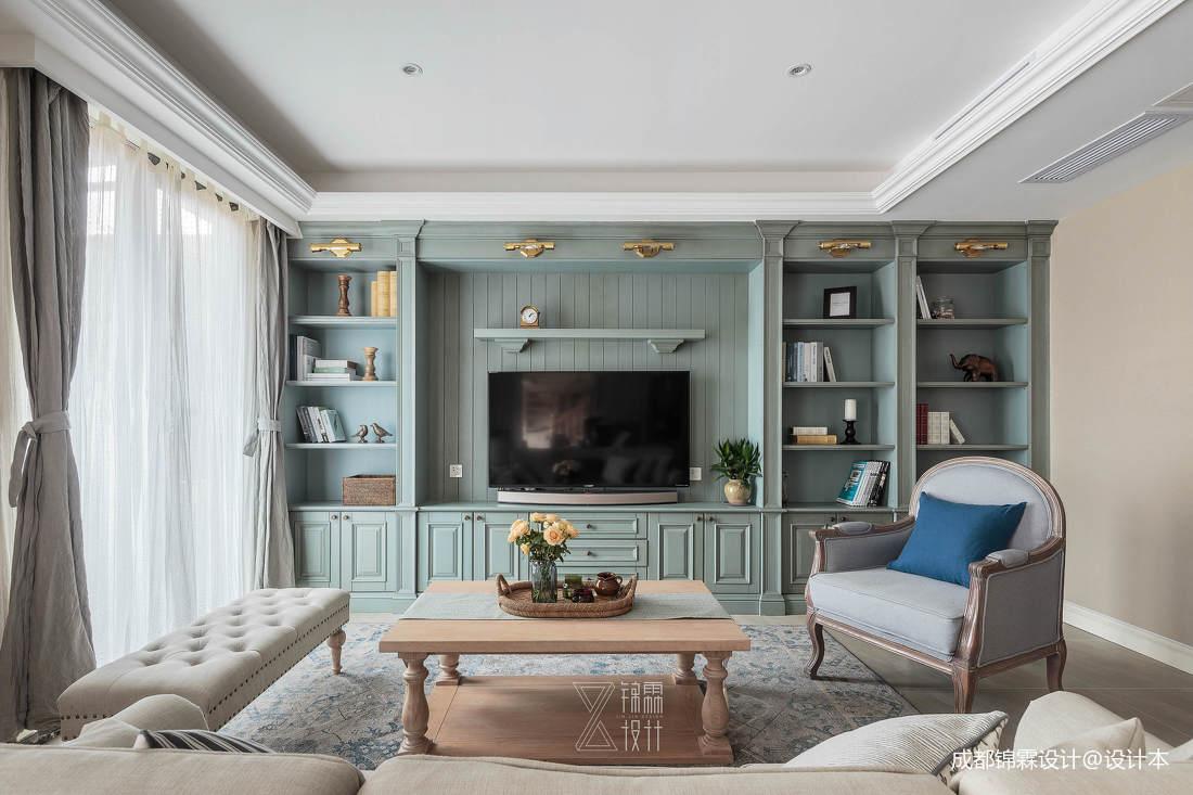 简洁85平法式二居客厅设计案例