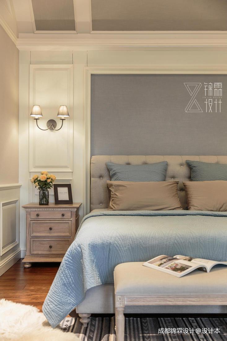 轻奢80平法式二居卧室装修案例