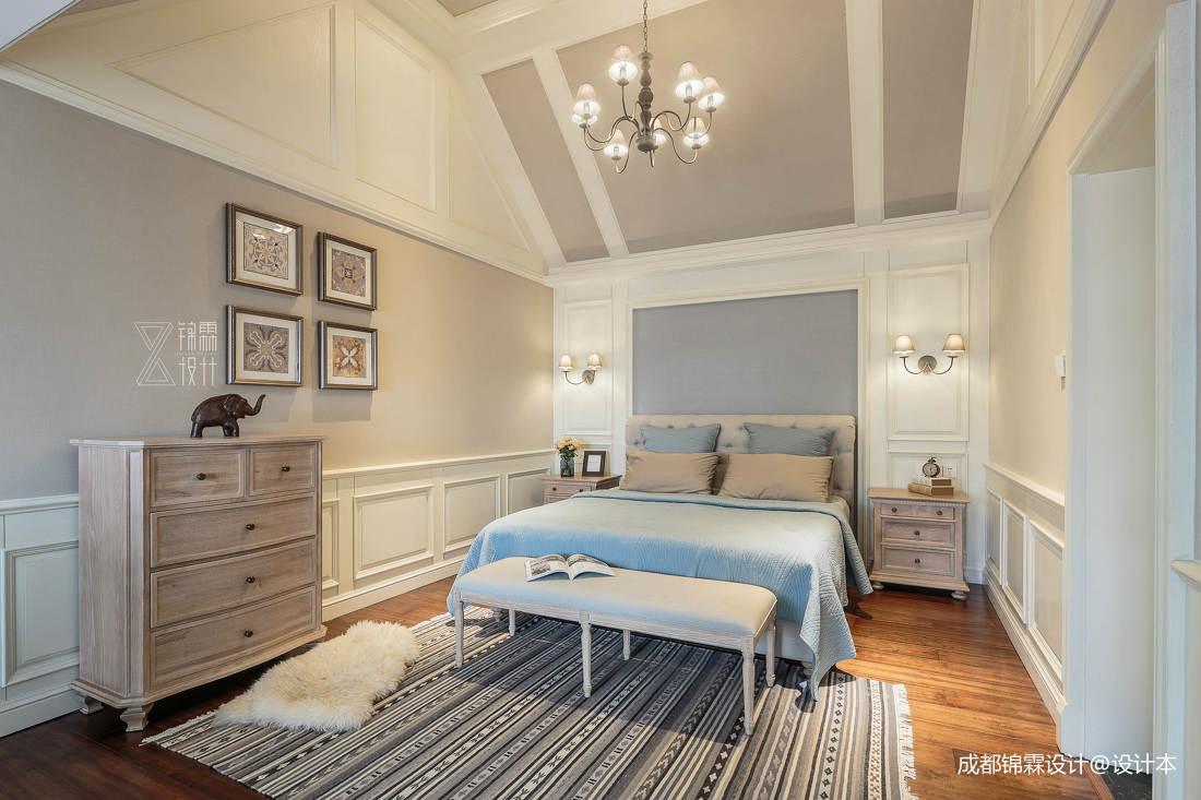 温馨79平法式二居卧室装饰图片