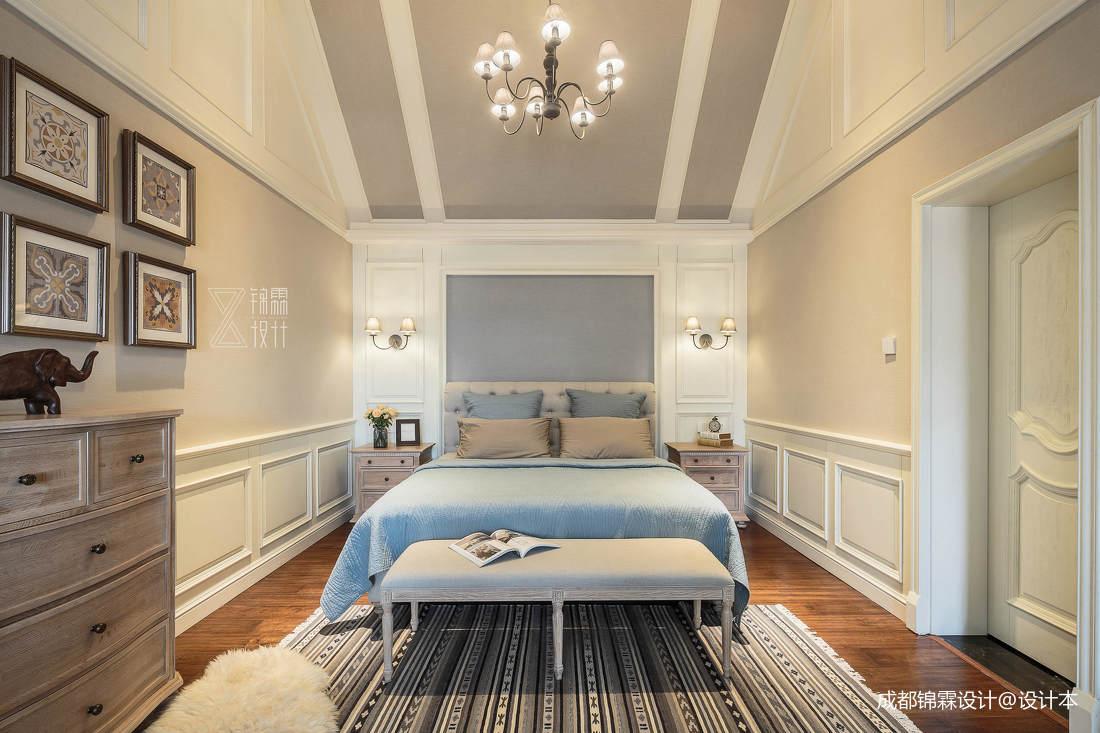 温馨60平法式二居卧室实景图