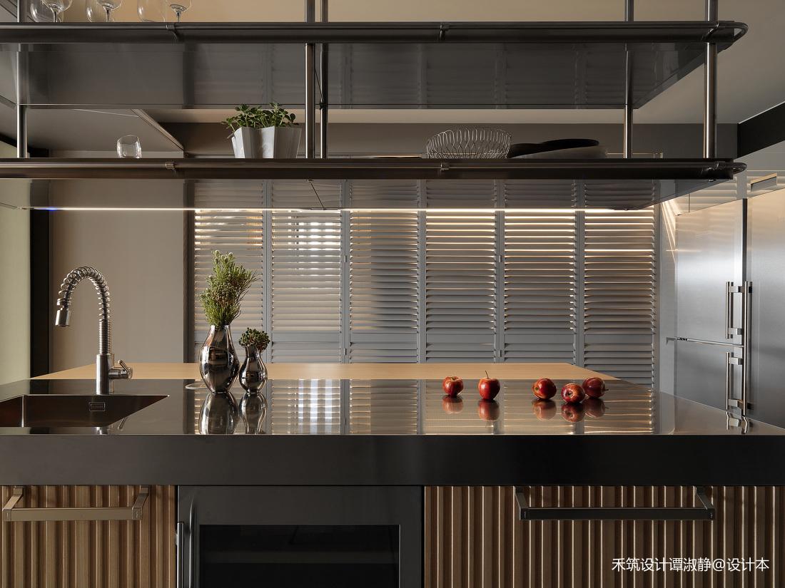 质朴1000平现代别墅厨房装饰图
