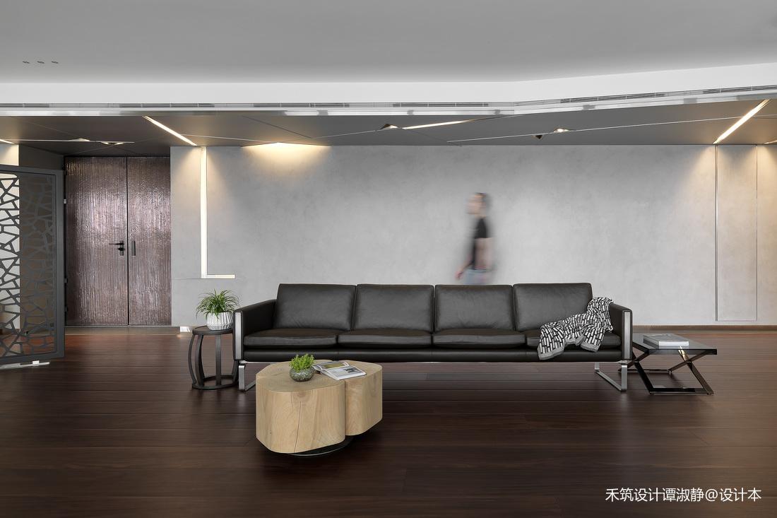 浪漫829平现代别墅客厅案例图