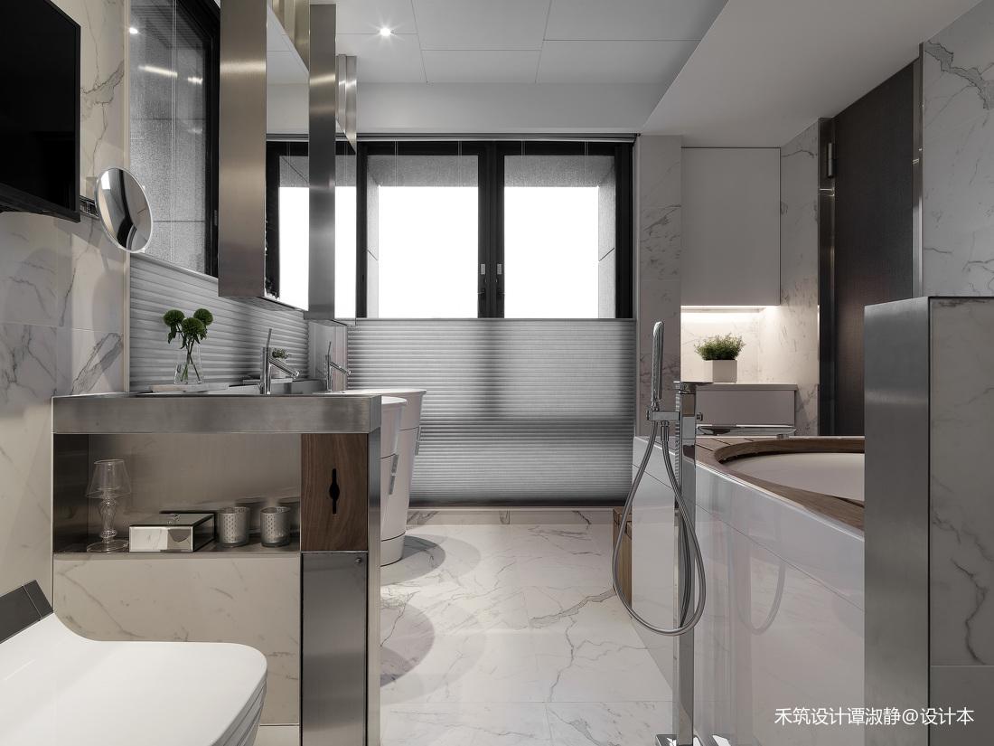 精致315平现代别墅卫生间装修案例