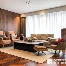 温馨468平现代复式客厅装饰图片