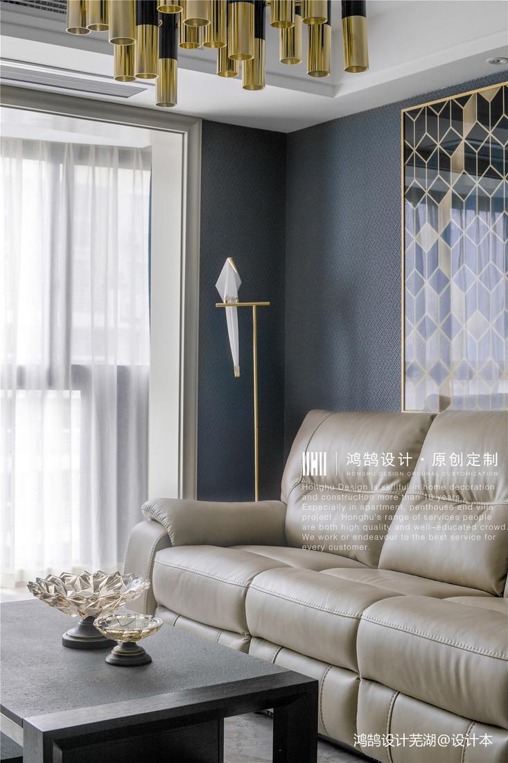 优雅75平现代三居客厅实拍图