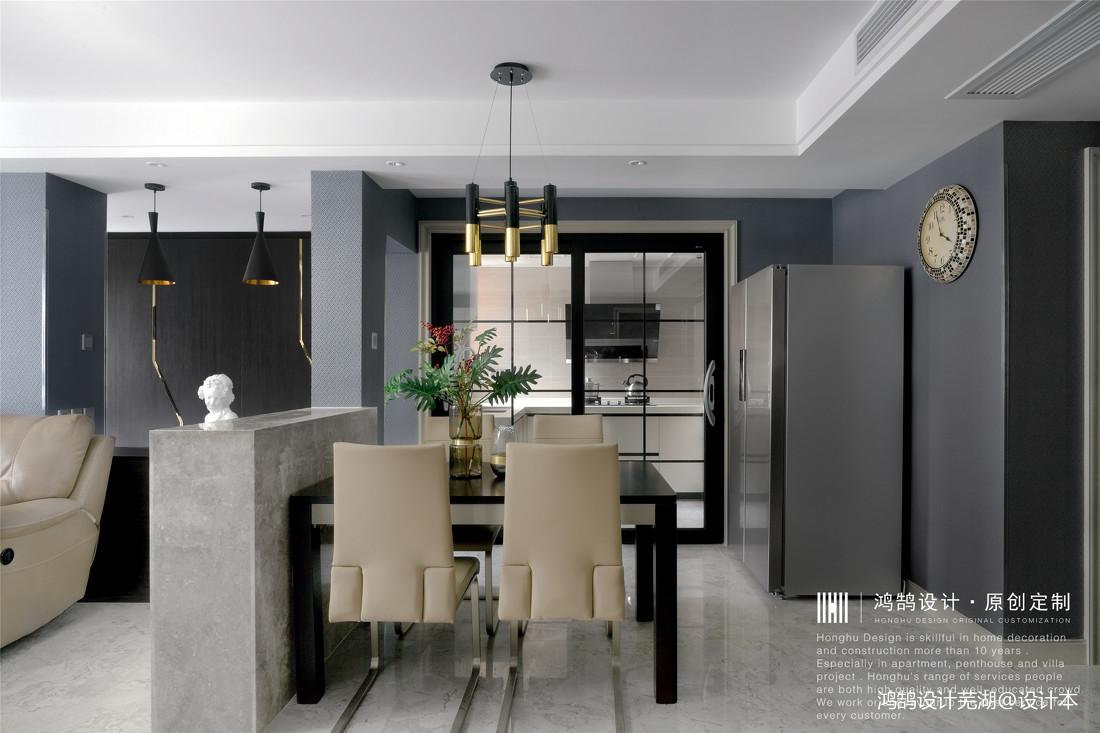 优雅129平现代三居餐厅实景图片