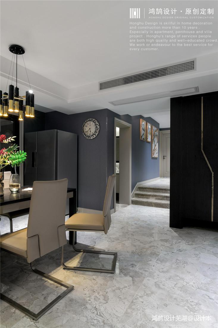 华丽77平现代三居餐厅设计案例
