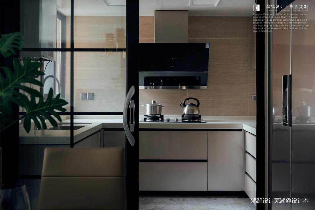 优雅76平现代三居厨房装修案例