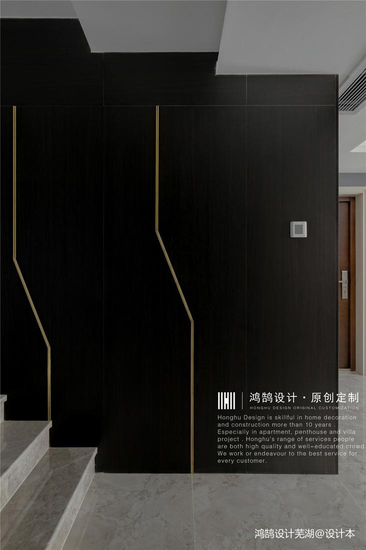 温馨97平现代三居过道装饰图片