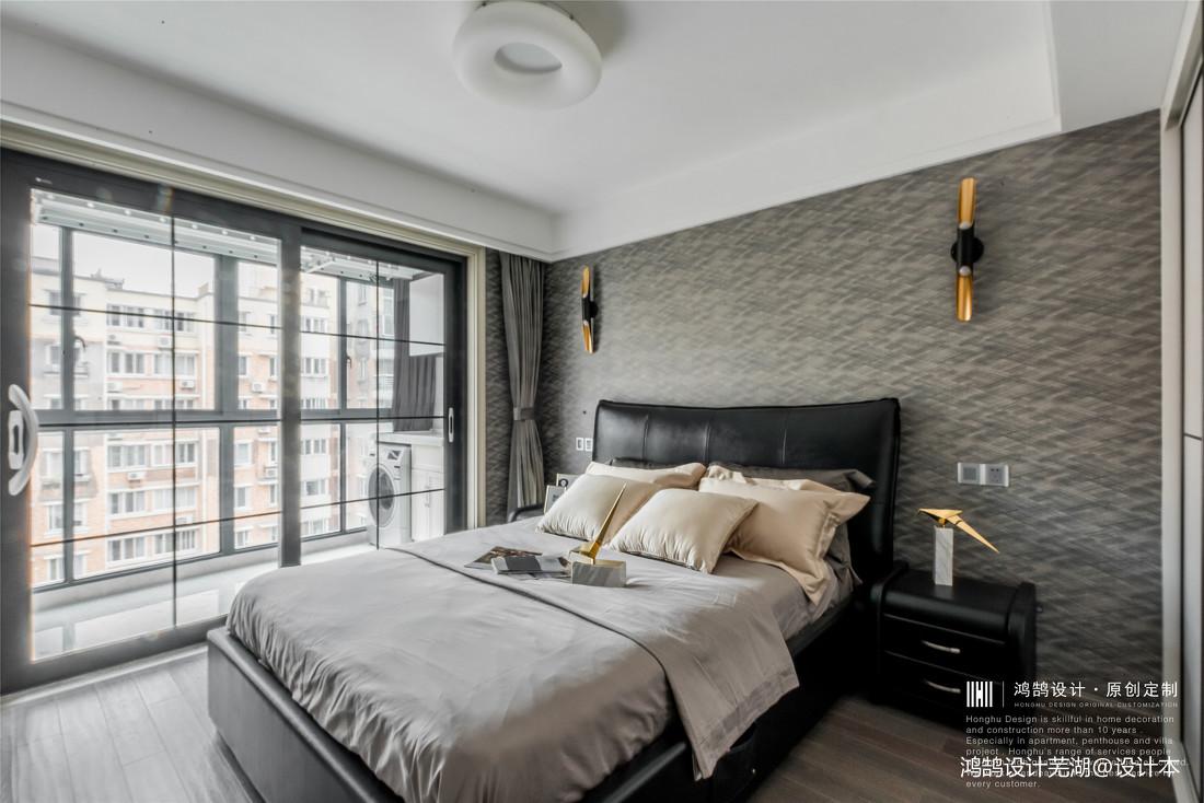 悠雅116平现代三居卧室案例图