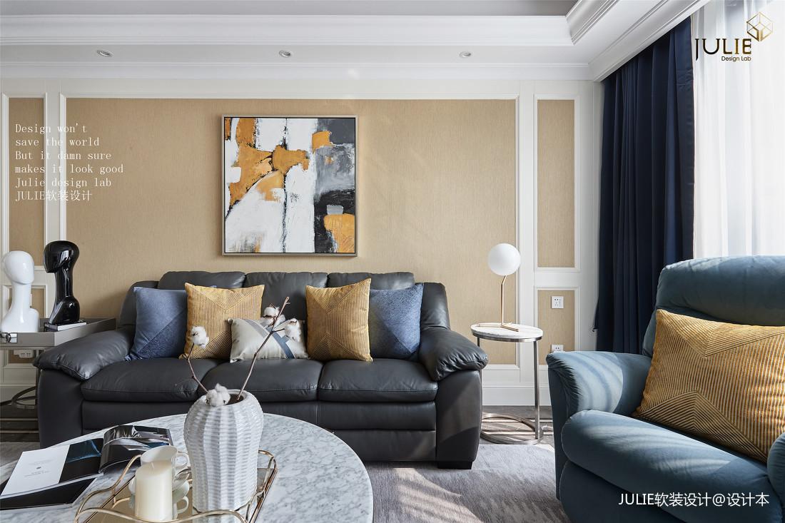 质朴101平美式四居客厅设计图