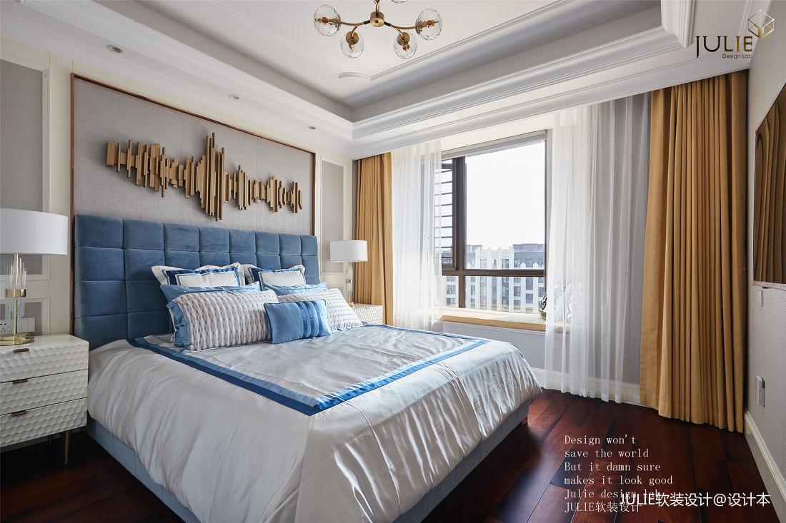典雅130平美式四居卧室实景图片