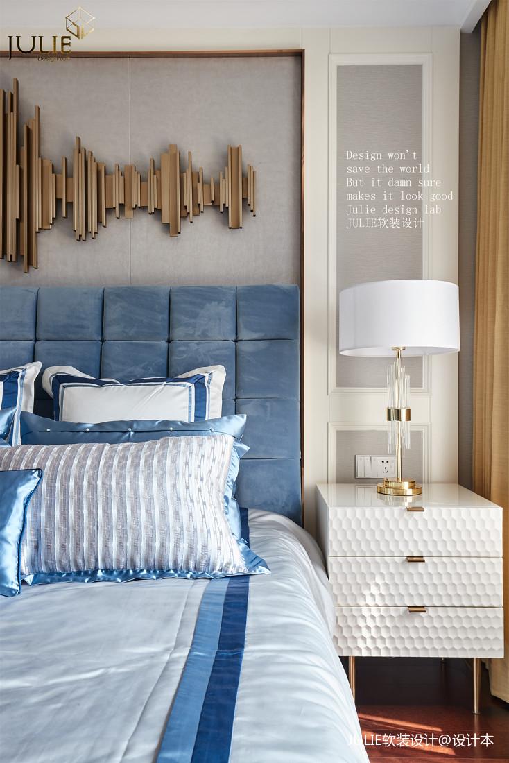 优美151平美式四居卧室装饰图片