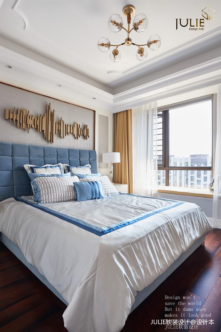 简洁128平美式四居卧室设计案例