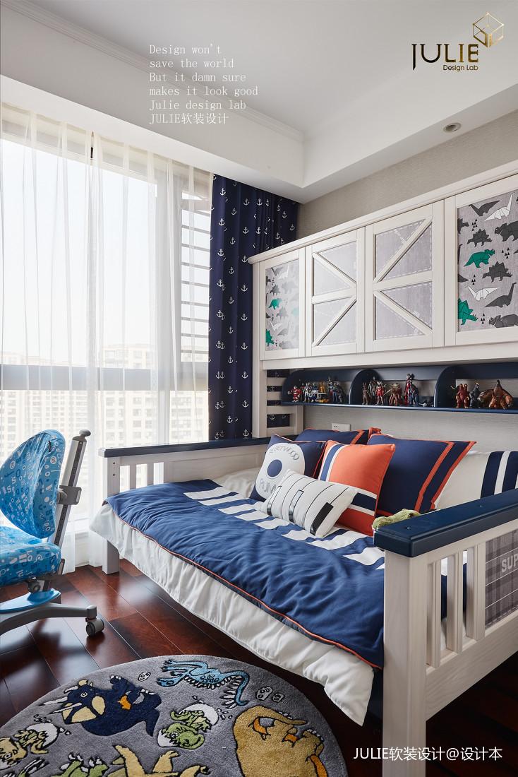 简洁131平美式四居儿童房设计案例