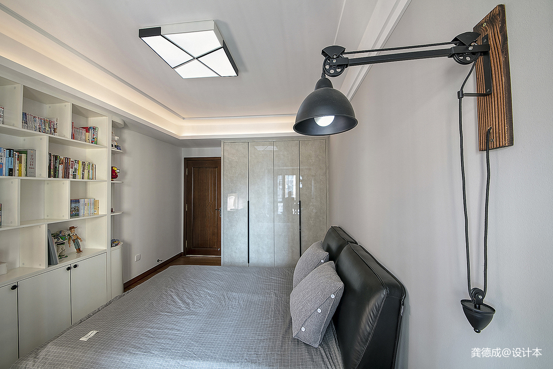 优雅470平中式别墅卧室效果图