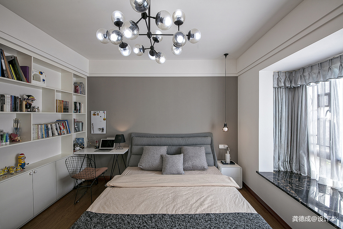 优美687平中式别墅卧室装饰美图
