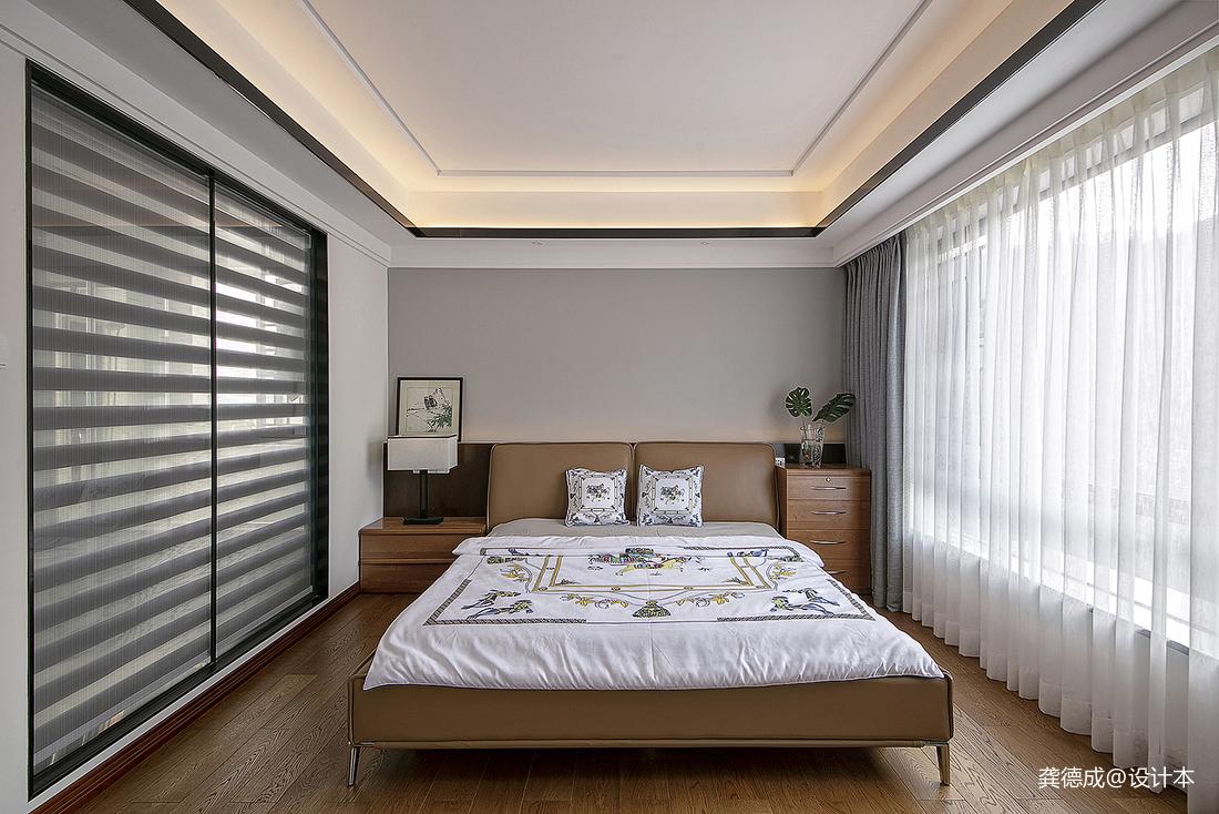 简洁402平中式别墅卧室美图