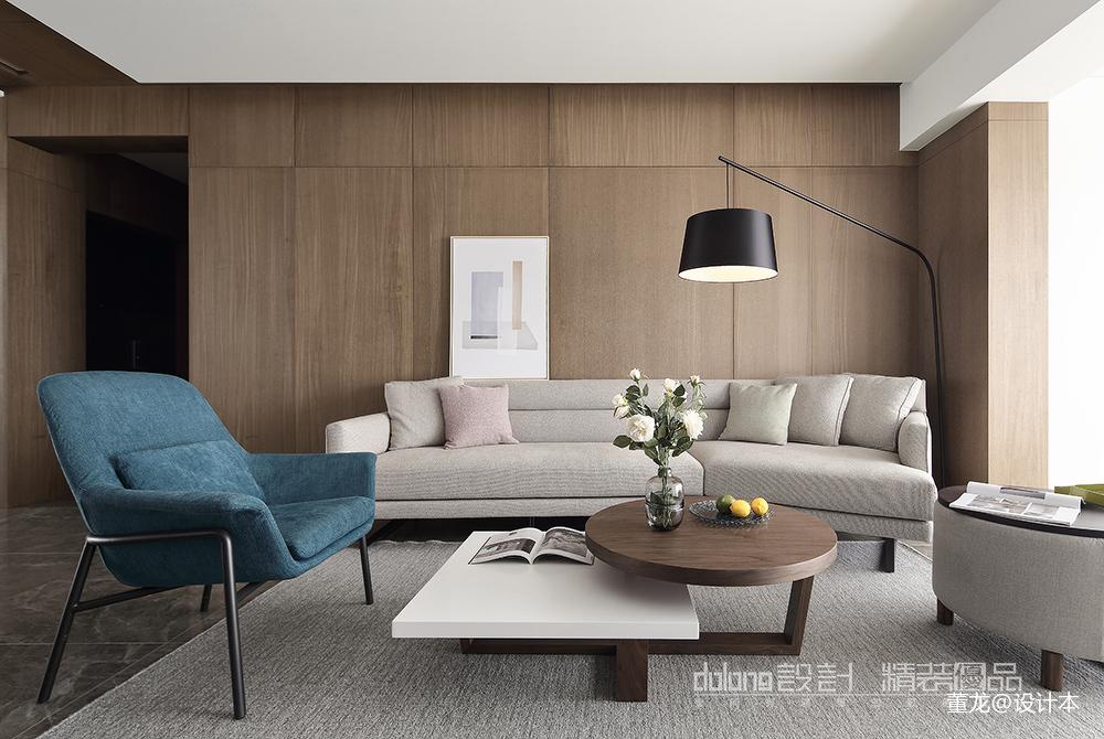 优雅22平现代小户型客厅案例图