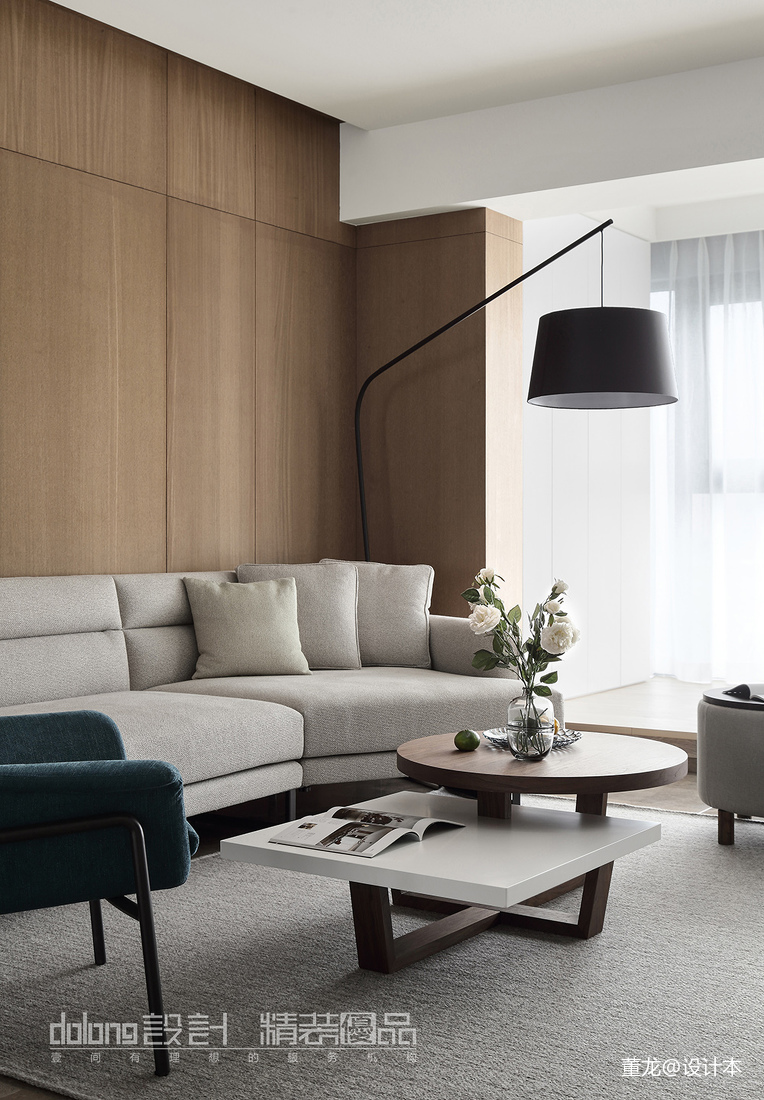 优雅28平现代小户型客厅装修图