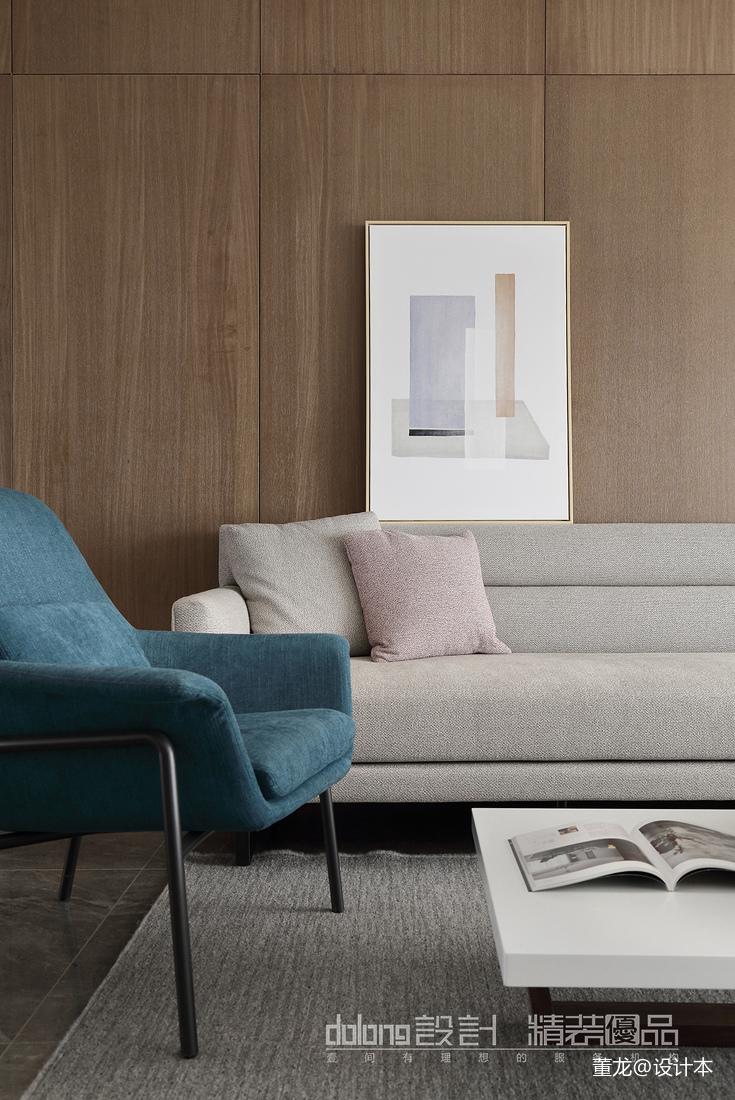 轻奢25平现代小户型客厅装修效果图