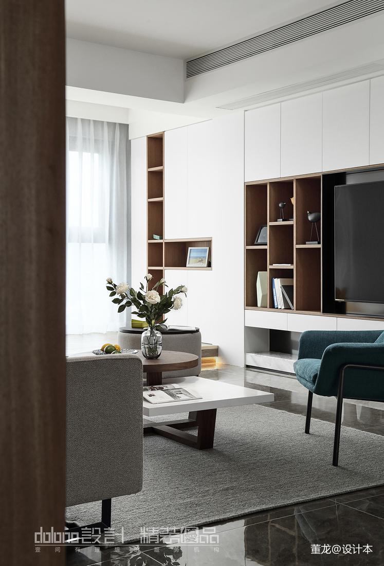 悠雅28平现代小户型客厅装饰图